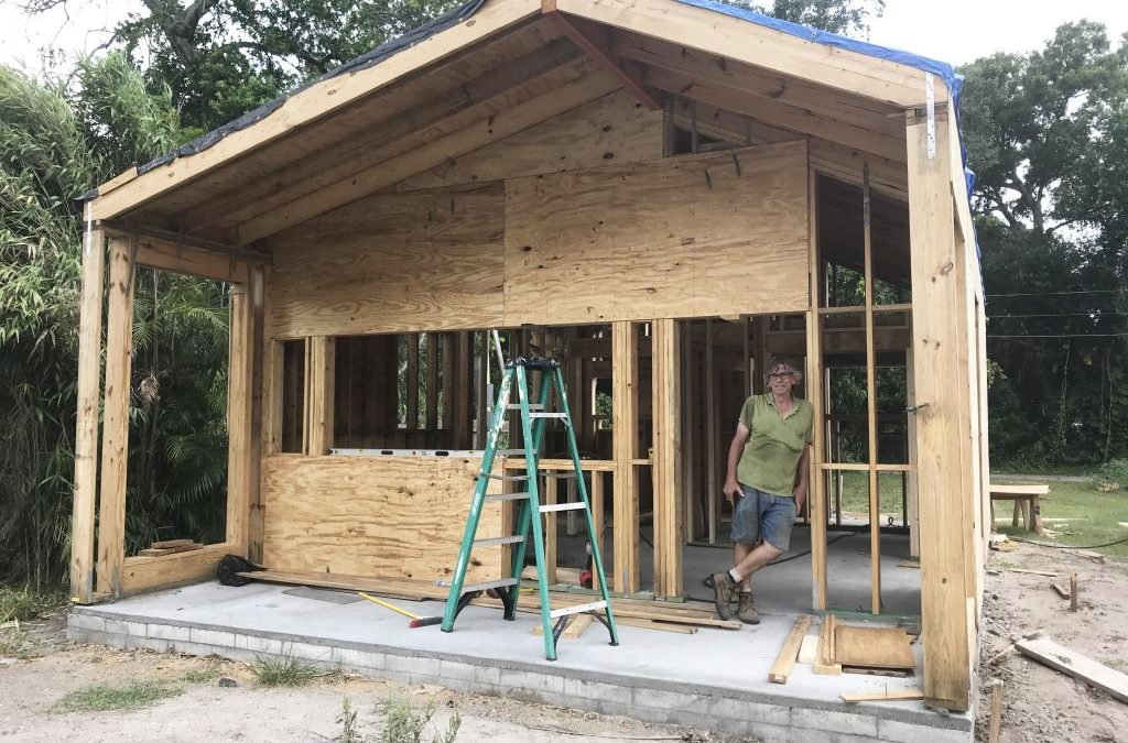 1st Tiny Home for Homeless Veteran taking shape!